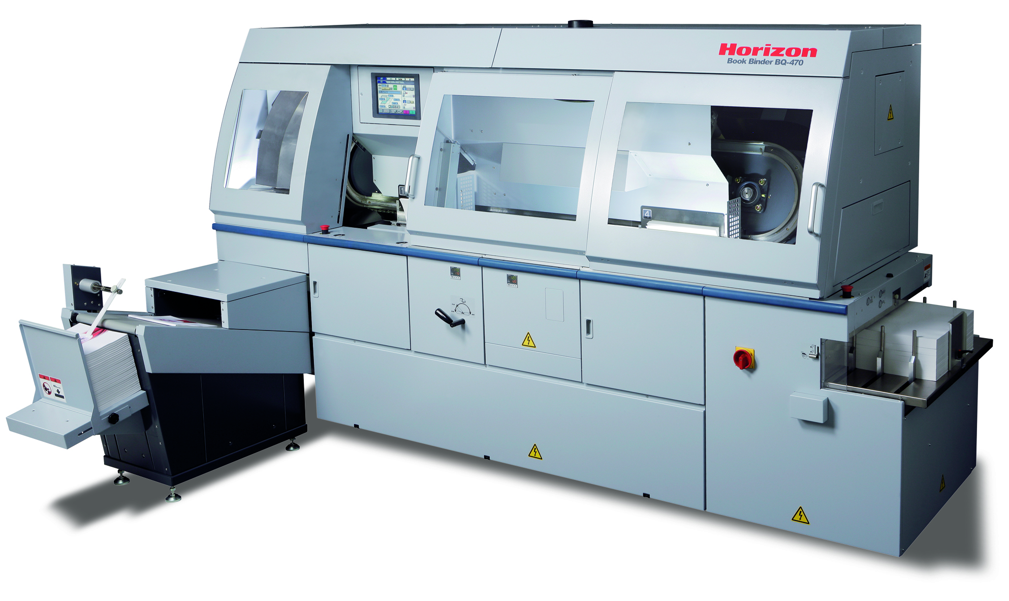 HORIZON BQ-470 FULLY-AUTOMATED FOUR-CLAMP PERFECT BINDER