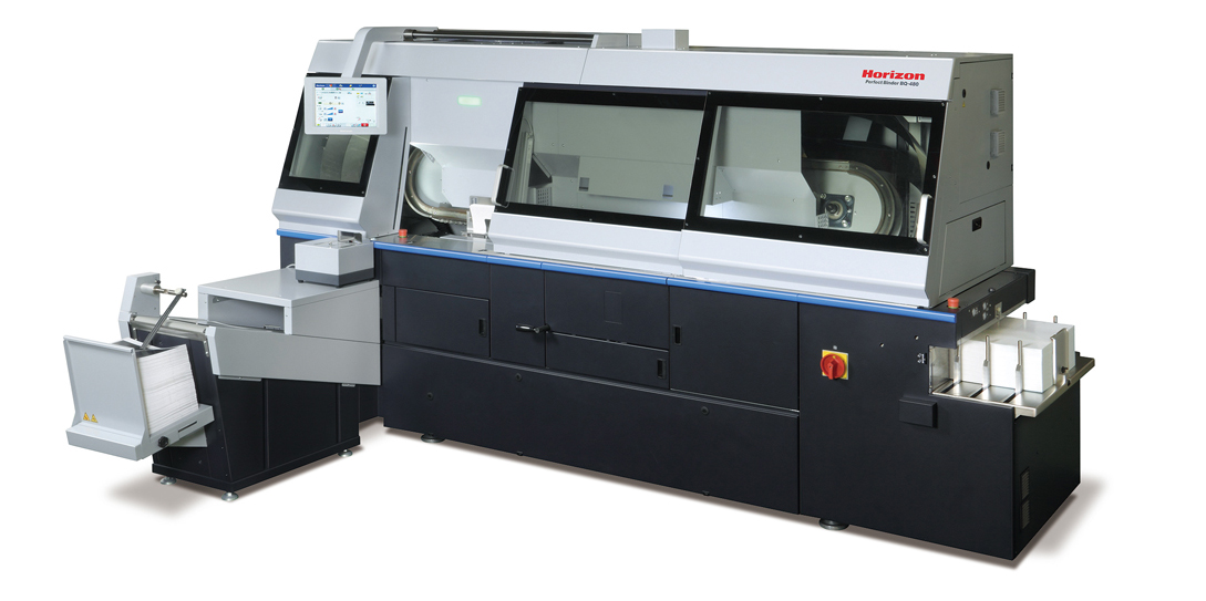 HORIZON BQ-480 FULLY-AUTOMATED FOUR-CLAMP PERFECT BINDER