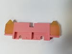 A924701-01 DOUBLE FEED STOP PLATE (PINK) PFP330 FIG 5/1, VAC100 FIG 4/35, MU 29/11